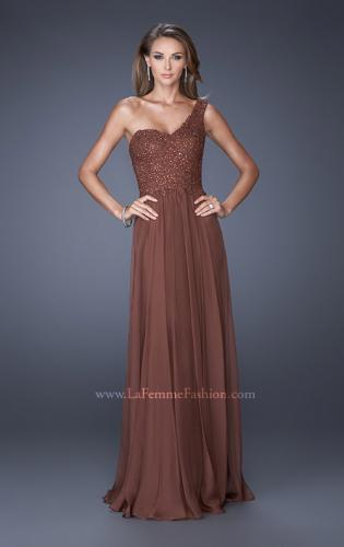 Picture of: One Shoulder Chiffon Prom Dress with Embellished Lace Bodice, Style: 19162, Detail Picture 2