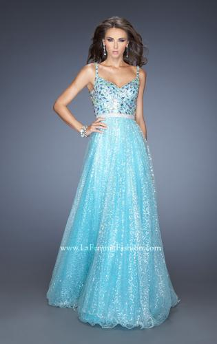 Picture of: Long A-line Prom Gown with a Bedazzled Bodice , Style: 19350, Main Picture