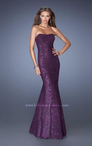 Picture of: Strapless Fitted Mermaid Prom Dress with Sequin Underlay, Style: 19396, Detail Picture 2