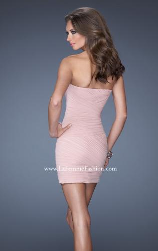 Picture of: Strapless Short Ruched Fitted Dress with Sequin Bust, Style: 19424, Back Picture