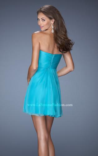 Picture of: Strapless Short Prom Dress with Embellishment on Bodice, Style: 19431, Back Picture