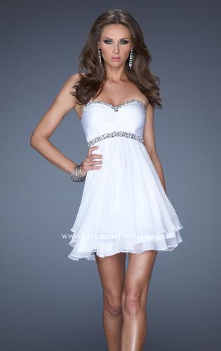 Picture of: Strapless Short Prom Dress with Bedazzled Trim on Bodice, Style: 19436, Main Picture