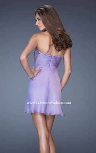Picture of: Strapless Short Dress with a Sweetheart Sequin Trim, Style: 19475, Back Picture