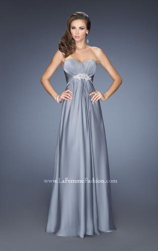 Picture of: Long Strapless Chiffon Prom Gown with Beaded Embroidery, Style: 19759, Detail Picture 2