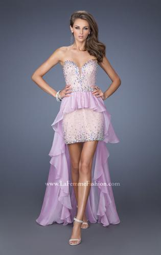 Picture of: Mini Dress with High Low Peplum Style Skirt, Style: 19816, Main Picture