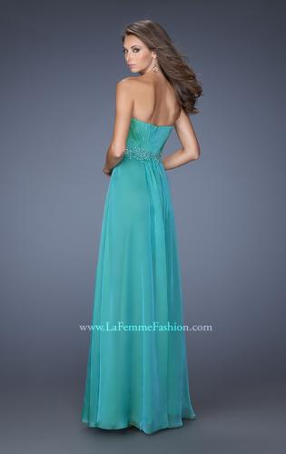 Picture of: A-line Prom Dress with Pleated Bodice and Rhinestones, Style: 19837, Back Picture
