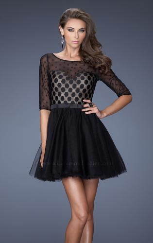 Picture of: Multi Layered Short Homecoming Dress with Polka Dots, Style: 19841, Main Picture