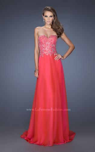 Picture of: Long Sweetheart Neckline Prom Gown with Rhinestones, Style: 19856, Main Picture