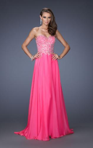 Picture of: Long Sweetheart Neckline Prom Gown with Rhinestones, Style: 19856, Detail Picture 1