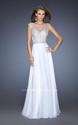 Picture of: Long Prom Dress with Cap Sleeves and Small Train, Style: 19858, Detail Picture 1