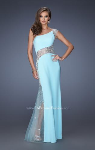 Picture of: Long Prom Dress with Jewel and Beaded Embellishments, Style: 19867, Main Picture