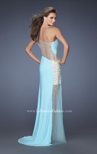 Picture of: Long Prom Dress with Jewel and Beaded Embellishments, Style: 19867, Back Picture