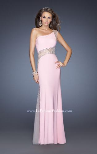 Picture of: Long Prom Dress with Jewel and Beaded Embellishments, Style: 19867, Detail Picture 1