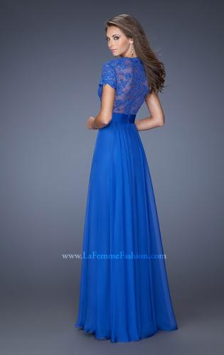 Picture of: A-Line Chiffon Evening Dress with Low V Neckline, Style: 19876, Back Picture