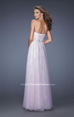 Picture of: Strapless Sweetheart Prom Dress with Lice Lining and Tulle, Style: 19967, Back Picture