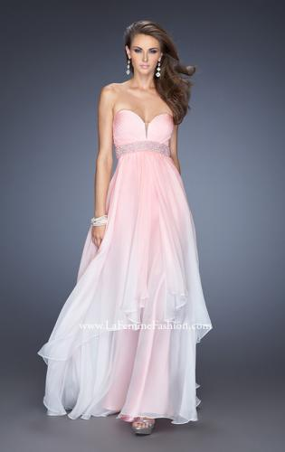 Picture of: Ombre Dyed Long Prom Gown with Plunging Neckline, Style: 20005, Detail Picture 1