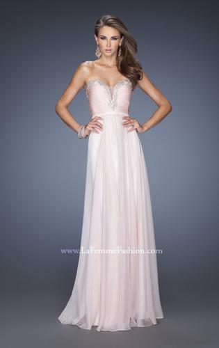 Picture of: Long Vintage Inspired Prom Gown with Beads and Jewels, Style: 20027, Detail Picture 1