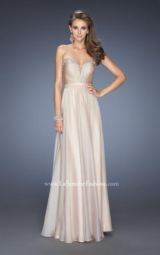 Picture of: Long Vintage Inspired Prom Gown with Beads and Jewels, Style: 20027, Detail Picture 2