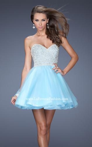 Picture of: A-line Short Dress with Sweetheart Neckline and Pearls, Style: 20033, Main Picture