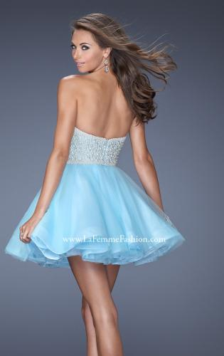 Picture of: A-line Short Dress with Sweetheart Neckline and Pearls, Style: 20033, Back Picture