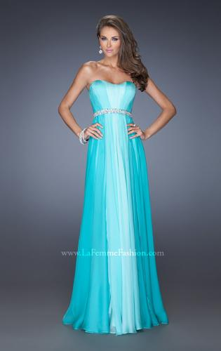 Picture of: A-line Prom Dress with Pearl Belt and Ombre Effect, Style: 20058, Detail Picture 1
