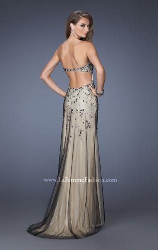 Picture of: Long Prom Dress with Beading and Jewels, Style: 20080, Back Picture