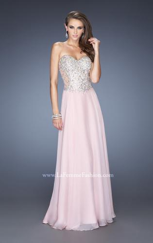 Picture of: Long Strapless Embellished Prom Dress with Net Overlay, Style: 20178, Main Picture