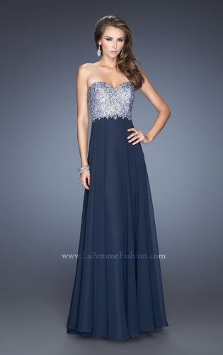 Picture of: Chiffon Gown with Natural Waist and Low Back, Style: 20217, Main Picture