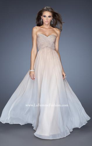 Picture of: Ombre Chiffon Prom Dress with Criss Cross Pleating, Style: 20404, Main Picture