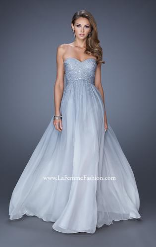 Picture of: Ombre Chiffon Prom Dress with Criss Cross Pleating, Style: 20404, Detail Picture 1