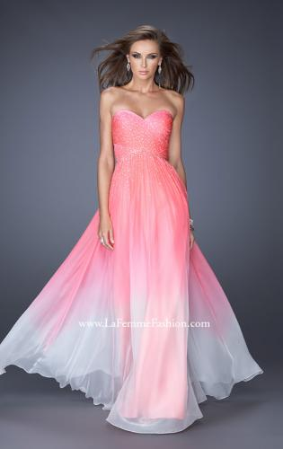Picture of: Ombre Chiffon Prom Dress with Criss Cross Pleating, Style: 20404, Detail Picture 2
