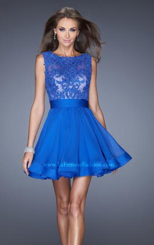 Picture of: Tulle Skirt Short Cocktail Dress with Jewel Details, Style: 20429, Main Picture