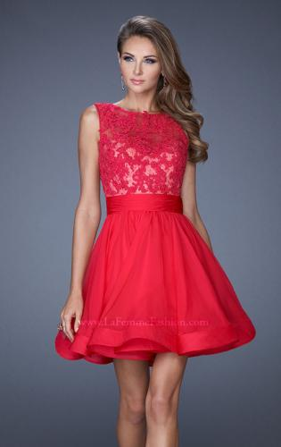 Picture of: Tulle Skirt Short Cocktail Dress with Jewel Details, Style: 20429, Detail Picture 1