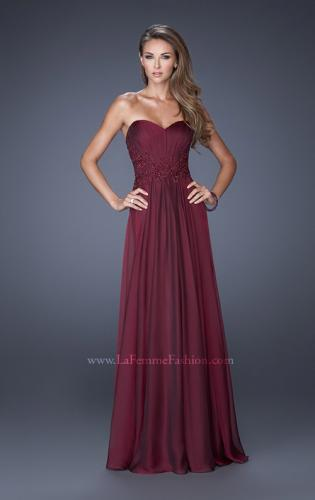 Picture of: Long Prom Gown with Jeweled Lace Accents on the Waist, Style: 20449, Detail Picture 1
