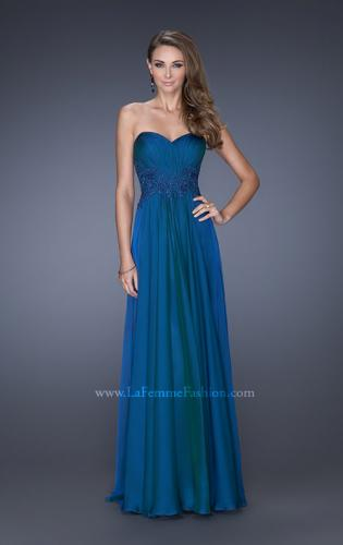 Picture of: Long Prom Gown with Jeweled Lace Accents on the Waist, Style: 20449, Detail Picture 2