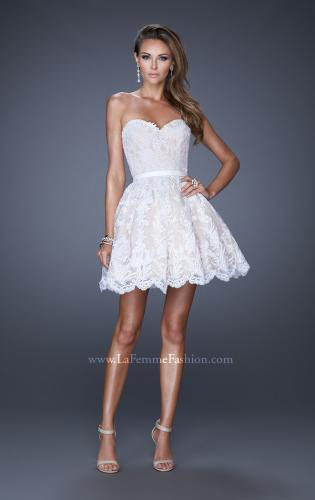 Picture of: Sweetheart Cocktail Dress with a Scalloped Hem, Style: 20451, Detail Picture 1