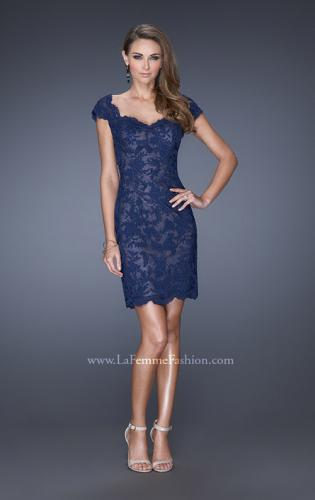 Picture of: Lace Evening Dress with Off the Shoulder Cap Sleeves, Style: 20469, Detail Picture 1