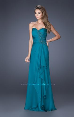 Picture of: Sweetheart Evening Gown with Gathered Bodice and Lace, Style: 20479, Main Picture