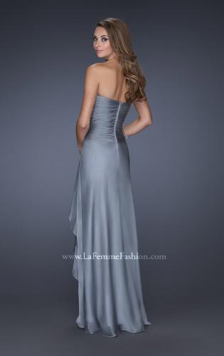 Picture of: Sweetheart Evening Gown with Gathered Bodice and Lace, Style: 20479, Back Picture
