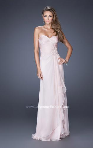 Picture of: Sweetheart Evening Gown with Gathered Bodice and Lace, Style: 20479, Detail Picture 1