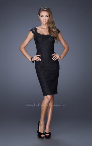 Picture of: Lace Dress with Cap Sleeves and a Thin Belt, Style: 20481, Detail Picture 1