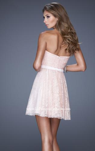 Picture of: Short Dress with Gathered Bodice and Sweetheart Neck, Style: 20531, Back Picture