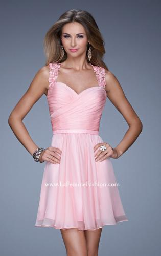 Picture of: Prom Dress with Gathered Bodice and Lace Open Back, Style: 20590, Detail Picture 1