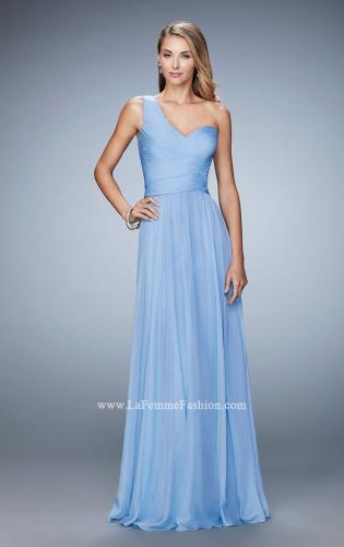 Picture of: Long One Shoulder Prom Gown with Criss Cross Bodice, Style: 20639, Detail Picture 2
