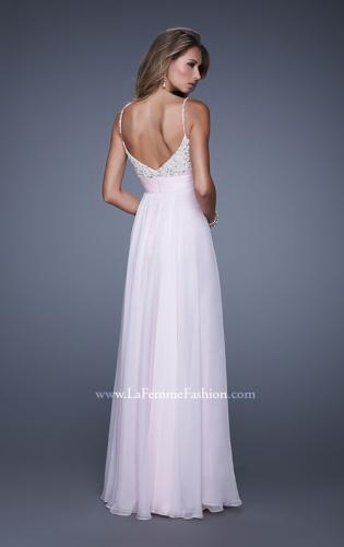 Picture of: Spaghetti Strap Rhinestone and Pearl Prom Dress, Style: 20717, Back Picture