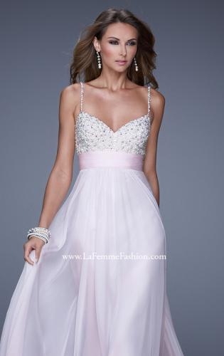 Picture of: Spaghetti Strap Rhinestone and Pearl Prom Dress, Style: 20717, Detail Picture 1