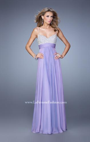 Picture of: Spaghetti Strap Rhinestone and Pearl Prom Dress, Style: 20717, Detail Picture 2