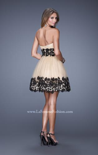Picture of: Sweetheart Neck Tulle Cocktail Dress with Pleated Bodice, Style: 20790, Back Picture