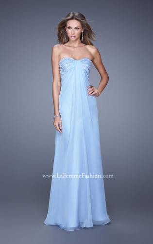 Picture of: Long Strapless Gown with Empire Waist and Pearls, Style: 20850, Detail Picture 1