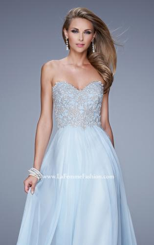 Picture of: Embellished Strapless Dress with Gathered Chiffon Skirt, Style: 20888, Main Picture